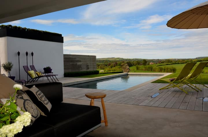 Panoramahouse-Luxus pur m. Pool und InfrarotKabine