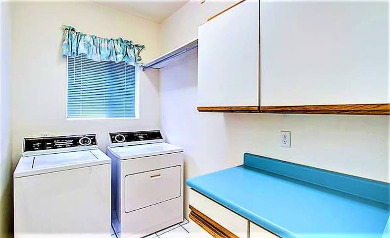Shared Access to Laundry Room if need (Passed the Sliding Doors, through the Kitchen)