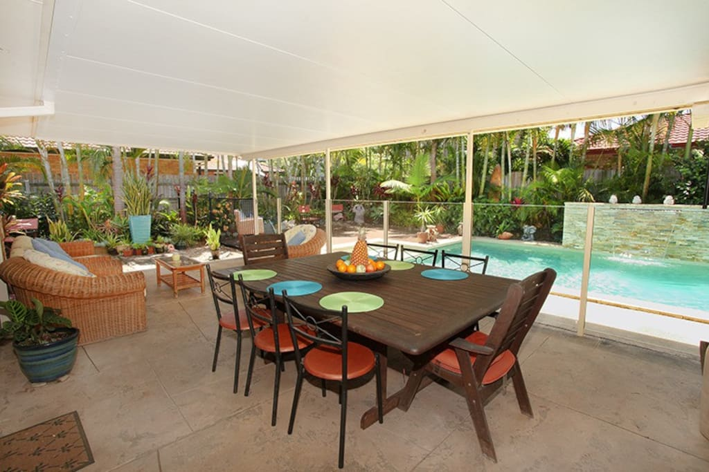 Relax outdoors and enjoy breakfast overlooking the pool