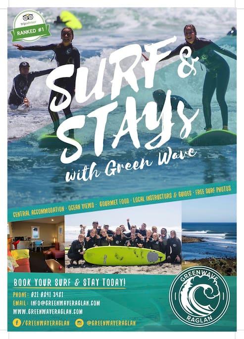 Surf and Stay www.greenwaveraglan.com