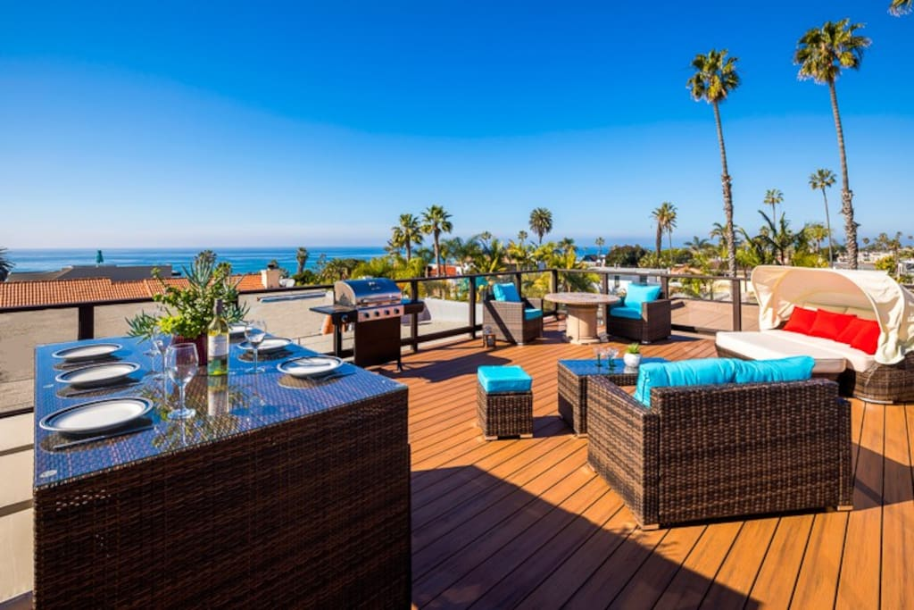 Eat el fresco while enjoy amazing ocean views or simply relax on this oversized roof deck.