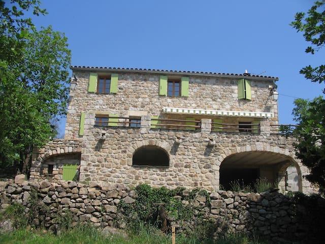 Gîte ardéchois avec piscine - Payzac - บ้าน