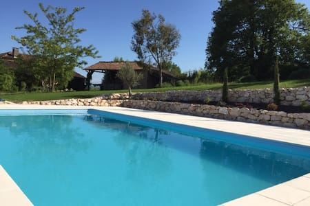 Luxury gite for 5 in lovely farmhouse, great pool - Labastide-Paumès