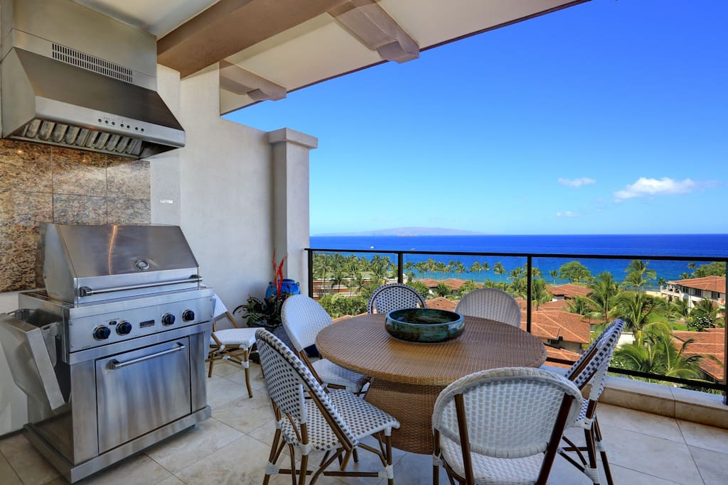 Wailea Beach Villa I503-BBQ Grill with Dining Table Perfect for Al Fresco Dining!