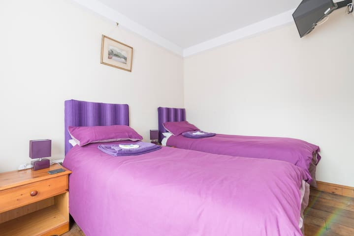 Twin room in popular Broadland village