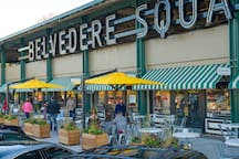 Belvedere Square Market place with diverse vendors! Only a 6 minute walk!
