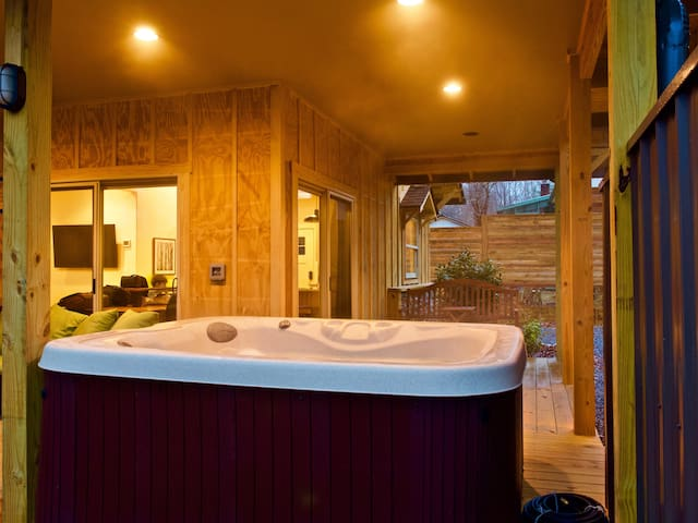 Enjoy the hot tub after a long day of hiking