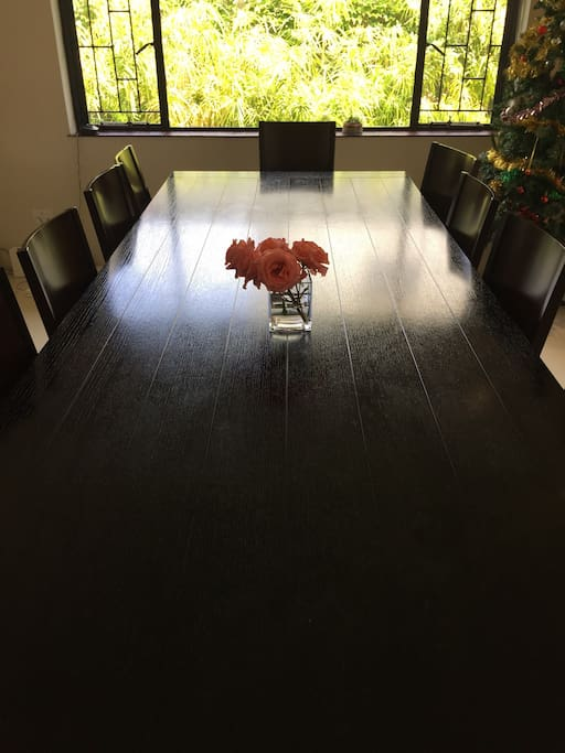 Large dining room table that seats 12