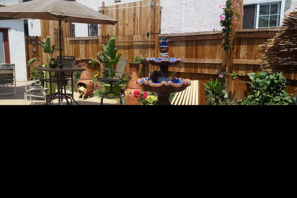 Patio to relax, not noise after 10 pm