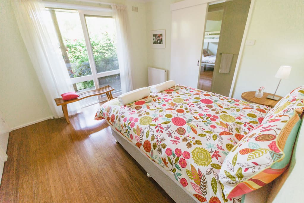 Double room with garden views.