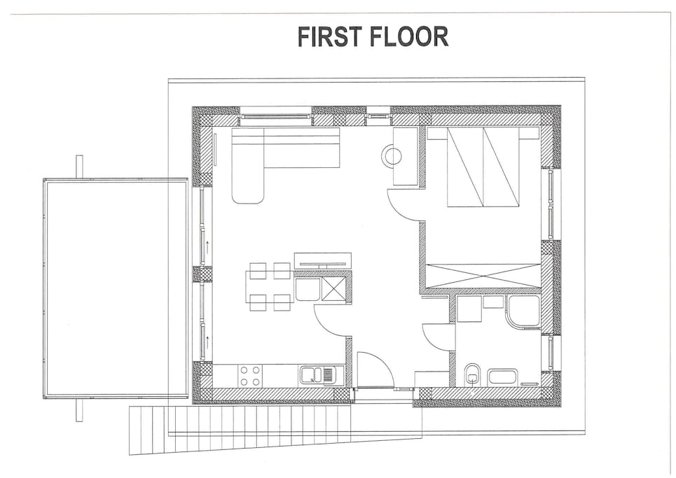 Layout of 1st floor apartment
