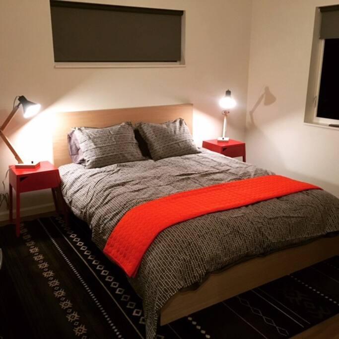 Comfy queen bed