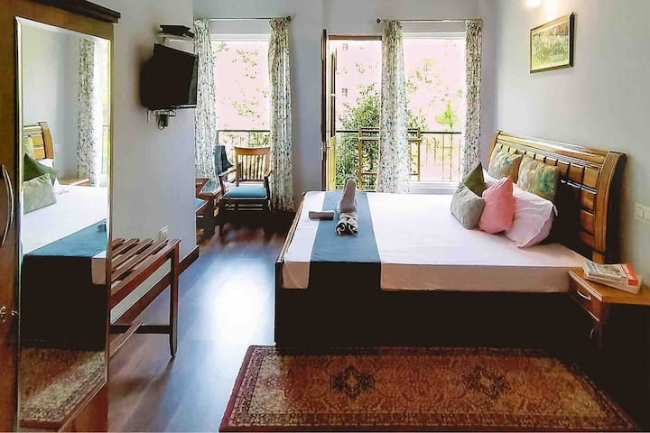 Spacious room with attached washroom & balcony