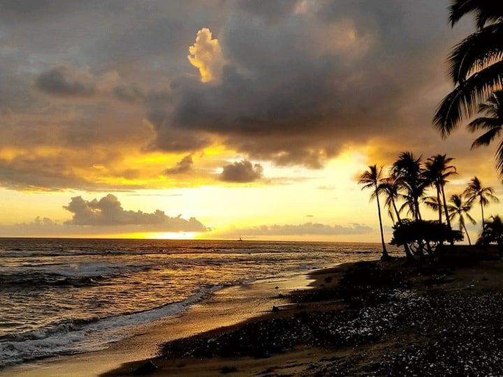 Tiki Hale Lua, a tropical paradise steps to ocean!