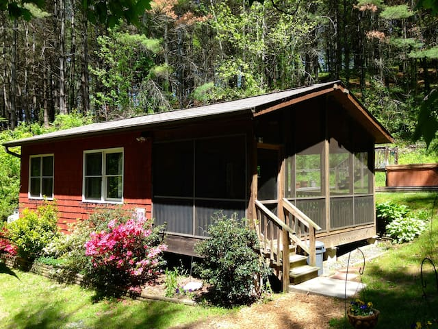 Broadwing Farm ~ Cedar Cabin/Mineral Water Hot Tub - Hot Springs - House