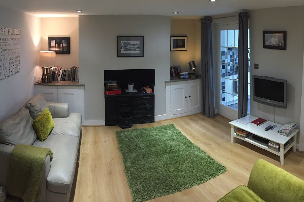 Cosy living area with seating for 3, Smart TV with full Sky package and DVD player