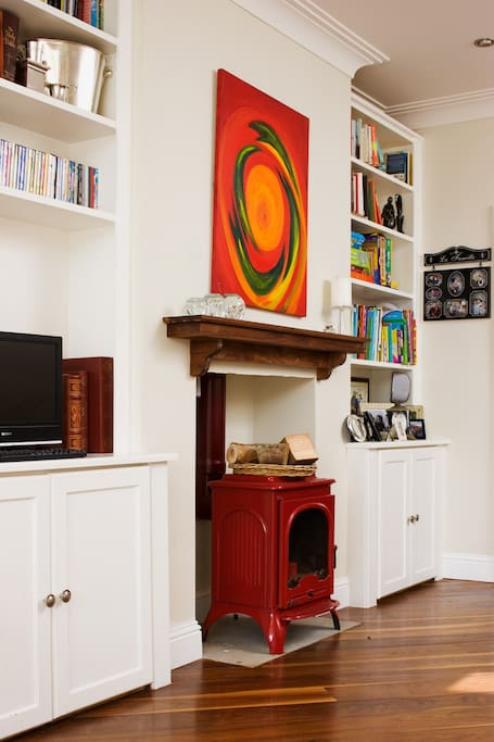 Wood Burning Stove in sitting room