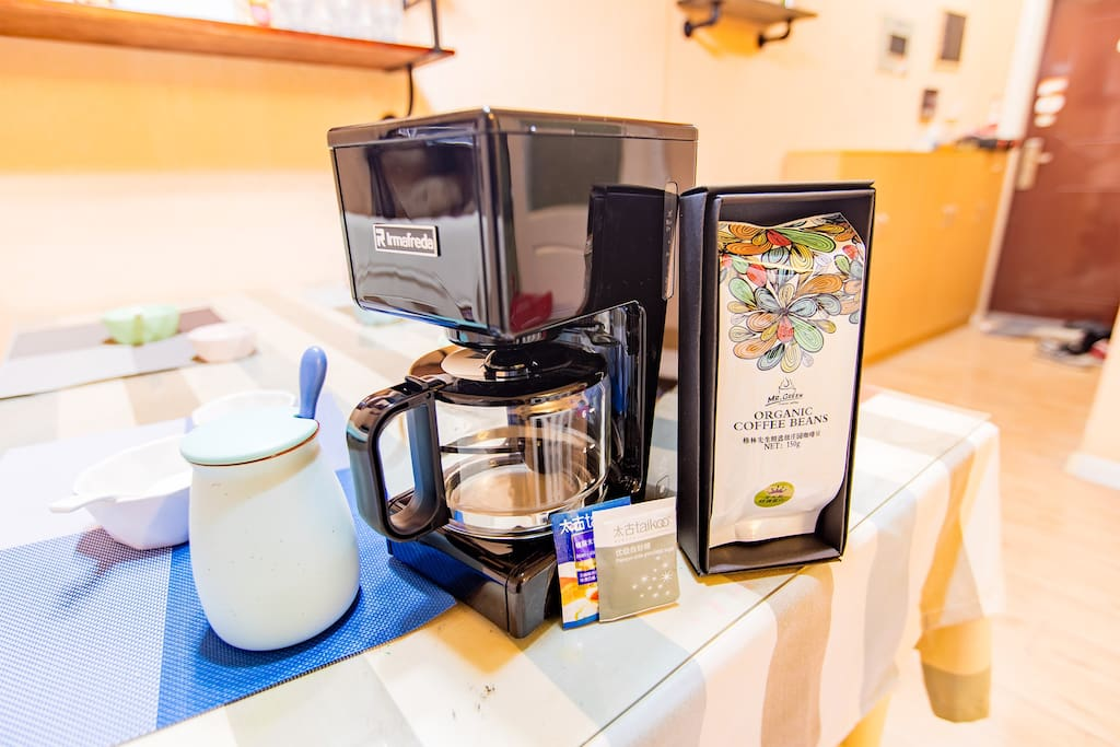 我们还为您配备了精致的咖啡机哟~高逼格必备!