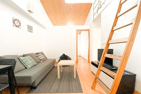 Unique Wood Ceiling Duplex in Bairro Alto