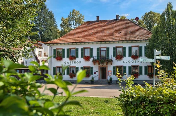 Hotel Suggenbad, (Waldkirch), Einzelzimmer Badberg mit Dusche und WC