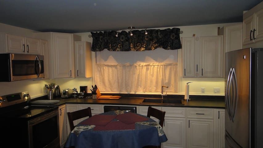 Full kitchen, upscale appointments.