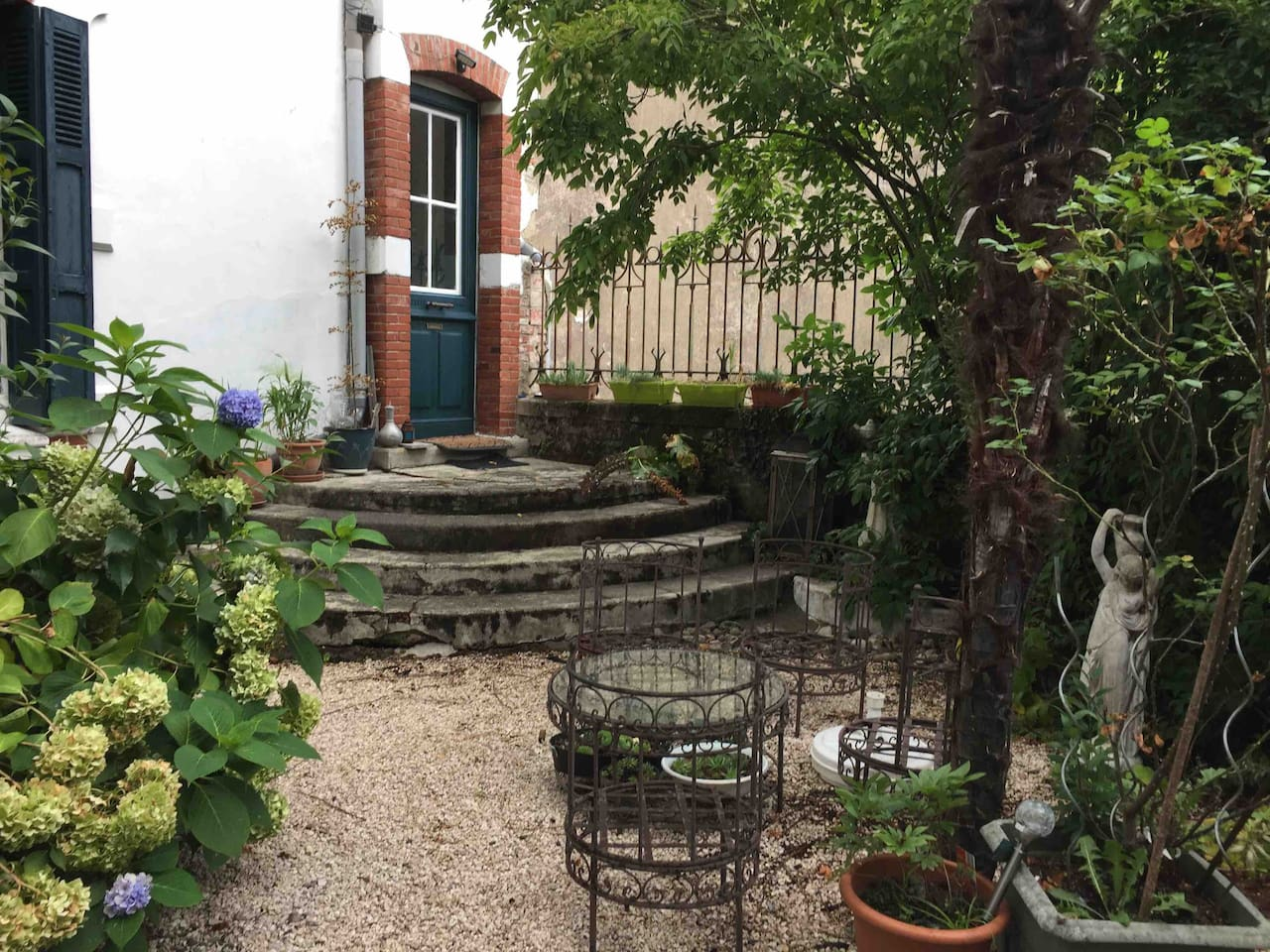 Your private entrance from the front garden with your own quiet seating area.