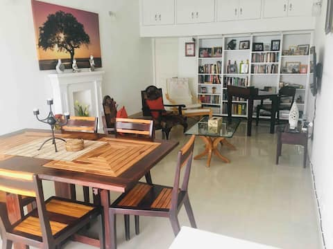 Living and Dining Room along with reading and study space