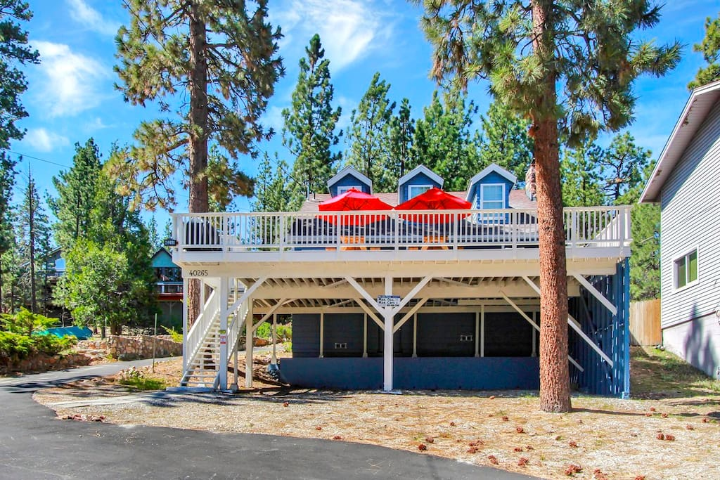 Our home is an icon in Big Bear and it sits on one of the best bicycling routes in the city.