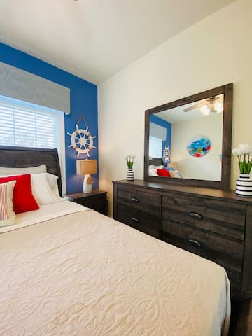 Upper-Level Bedroom 2 - Queen Bed, No Wake Zone at Smith Mountain Lake