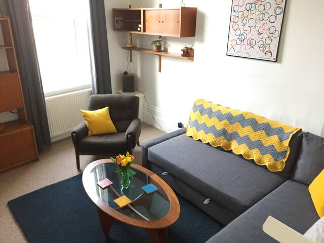 cheerful living room