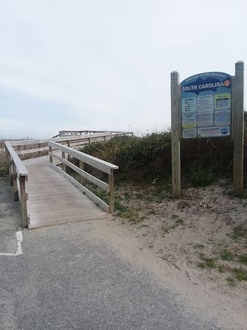 Beach access just across street