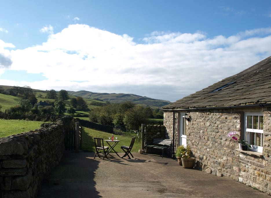The Old Dairy, converted stone outbuilding.  Relax after a grand day out.