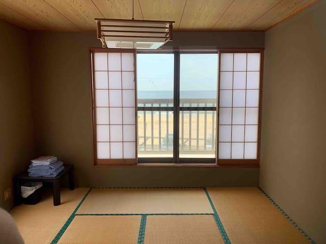 海辺の和室 2人料金 surf inn iwada beach