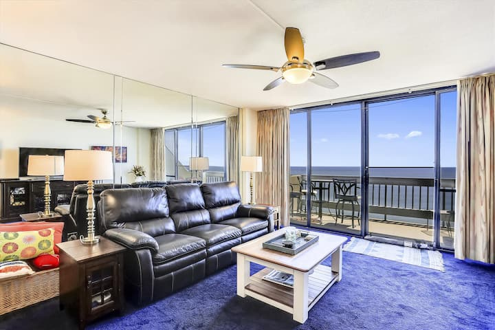Century I 1612 - Stay Oceanfront w/ Indoor Pool & Prem. Cable