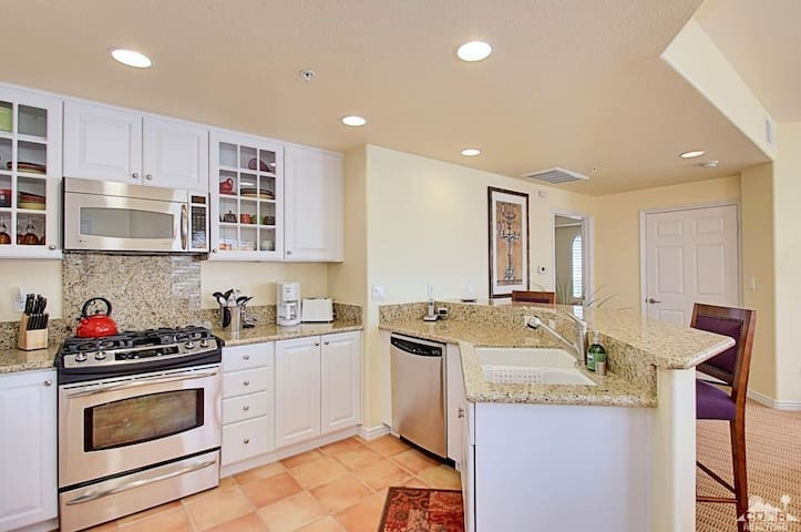 Gourmet inspired kitchens and countertops. All appliances included in your cozy stay.