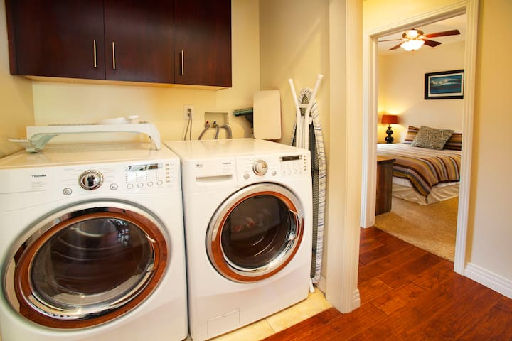 Laundry located downstair for your convenience