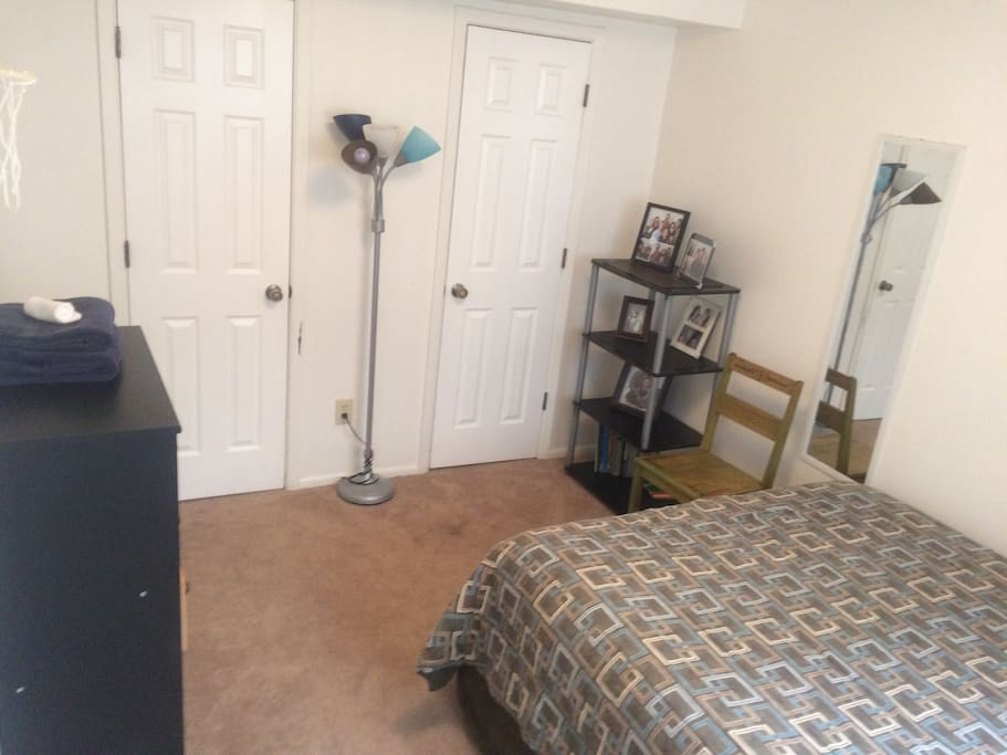 Private room with Large two door closet & dresser