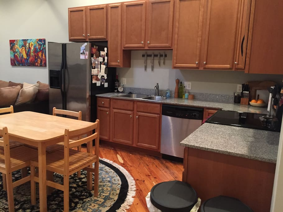 Feel free to use the kitchen for meals or entertaining.