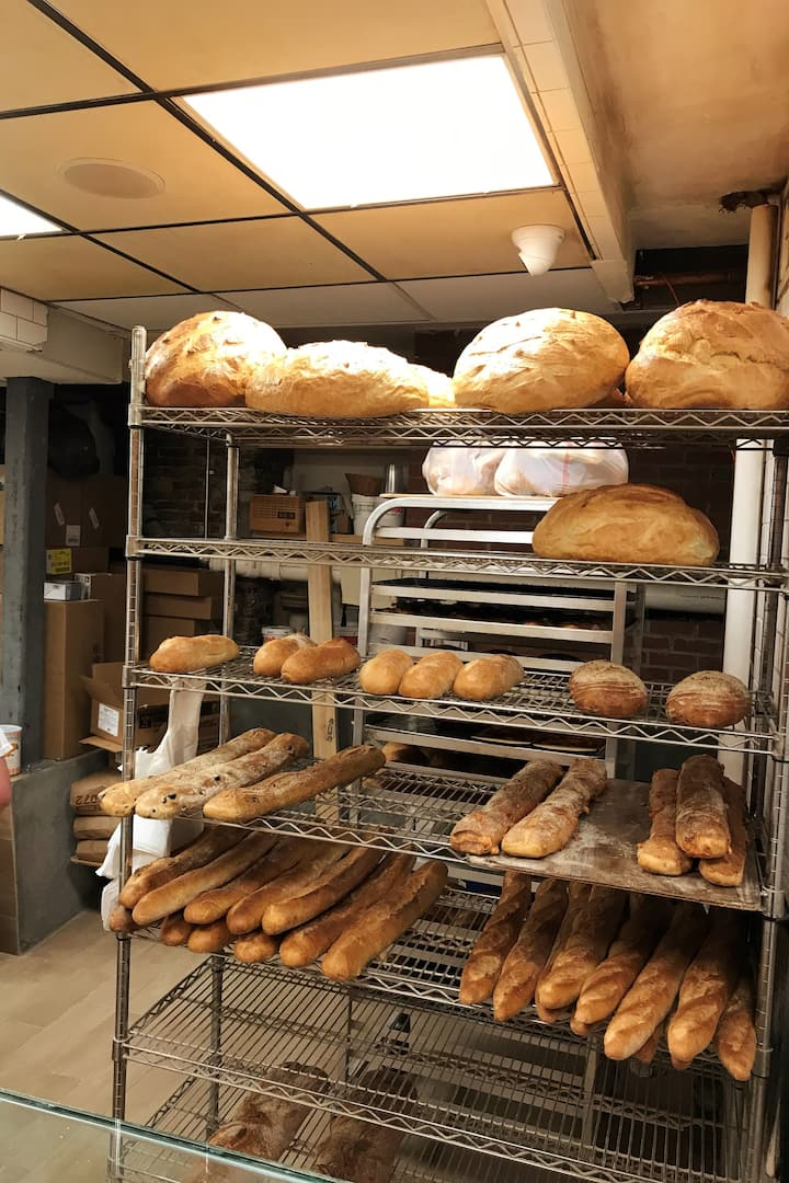 Secret bakery hidden in a alley basement