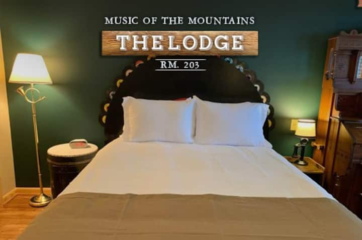 """""""Music of the Mountains"""" Lodge Room 203"""