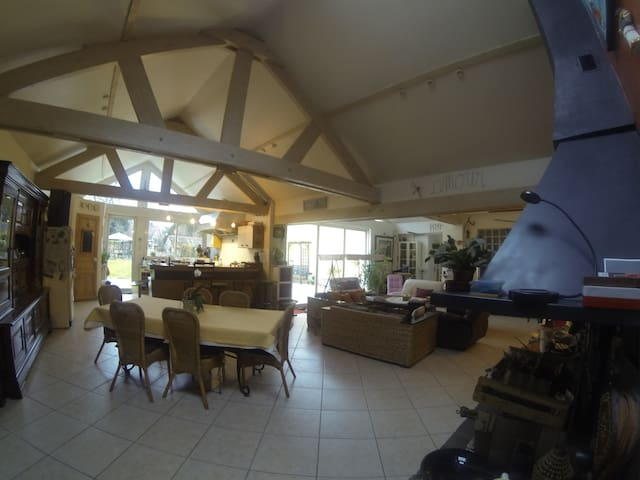 Chambre privée dans maison d'hôtes proche forêt. - Brunoy - Huis