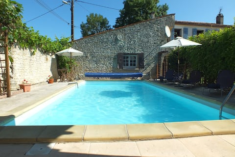 Independent cottage with private heated pool.
