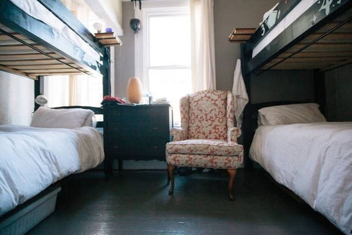 Red Victorian - Bunk #1 in shared Poster Room