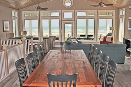 Beauty and the Beach -  6 BEDROOM BEACHFRONT HOME - Port Aransas - Haus