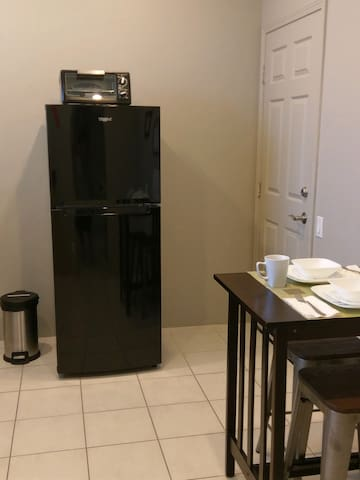 Full Size Refrigerator in Kitchenette