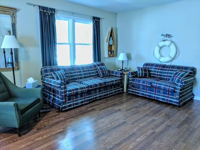 Living Room, Pull out Sleeper Sofa