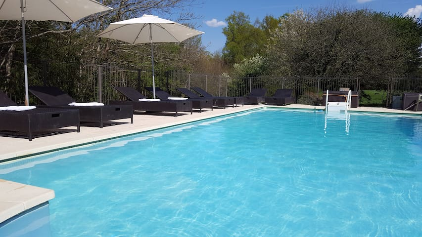 Our heated fenced pool is 10m x 5m