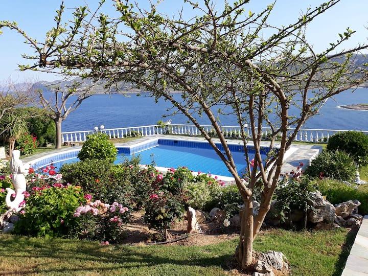 Villa Zifka,  View to the AEGEAN