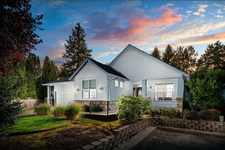 Southwest Portland Single Level Wheelchair Accessible Home With Open Floor Plan With Ping Pong Table