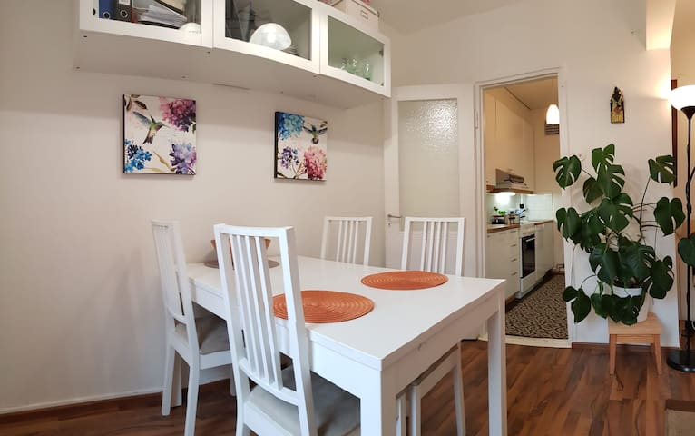 Dining area + kitchen